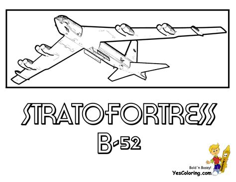 B 52 Coloring Pages by Mach Airplane Coloring Pages Airplanes Free