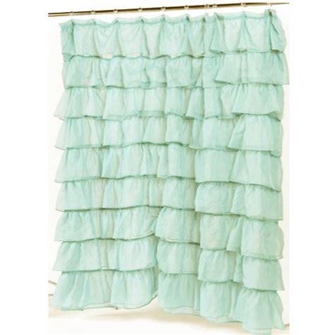 blue ruffle shower curtain ruffled shower curtains deal