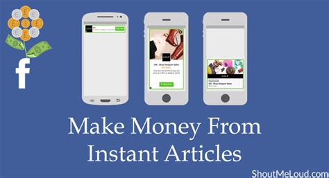 How To Make Instant Money Online - how to add advertisements to facebook instant articles