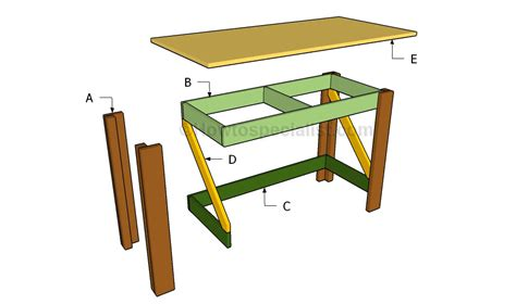 simple desk plans simple desk plans howtospecialist how to build step by step diy plans