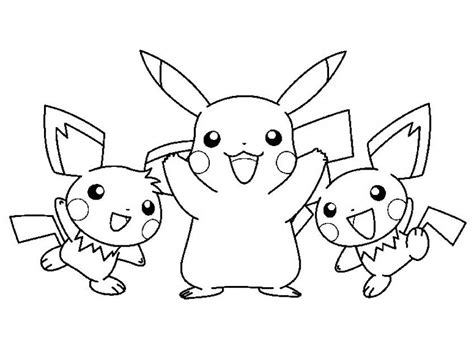 pichu coloring pages az coloring pages