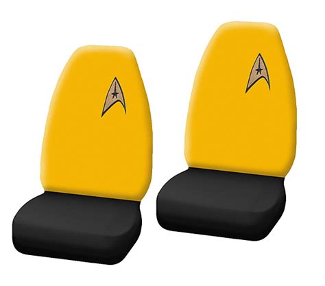 High Backed Chair Star Trek Delta Logo High Back Bucket Seat Cover Thinkgeek