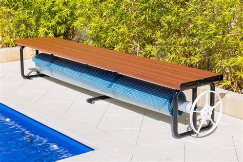 bench rollers under bench roller anodised aluminium daisy pool covers