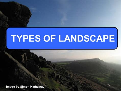 types of landscape