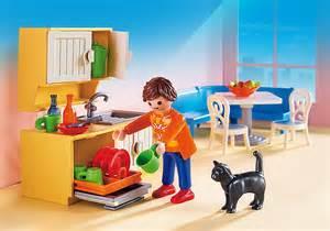 playmobil dollhouse cuisine avec coin repas 5336
