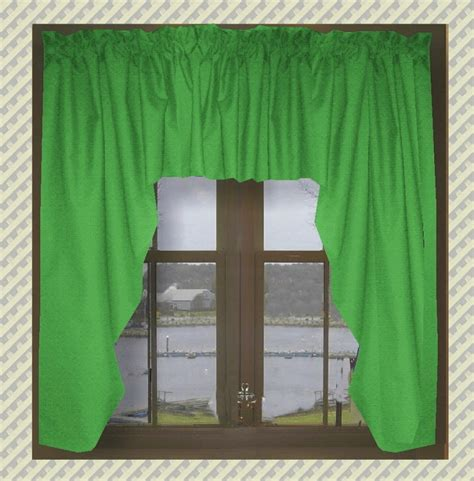 kelly green curtain panels solid kelly green swag window valance