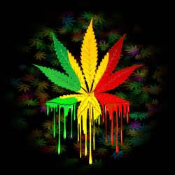 marijuana colors marijuana leaf rasta colors paint canvas print by