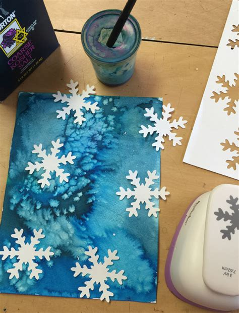 craft painting projects easy snowflake with paint and paper projects for