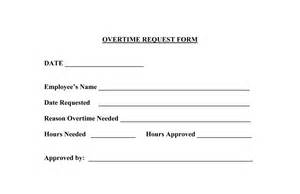 Overtime Payment Request Letter Personnel Forms