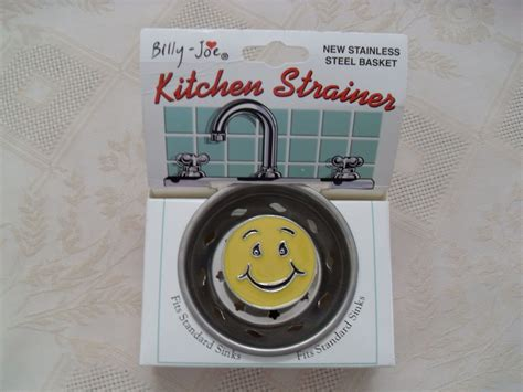 Jo In Kitchen Sink Sink Strainer billy joe smiley happy kitchen sink drain strainer