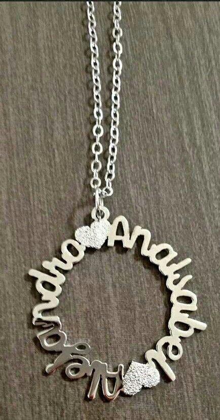 cadenas con nombre oro cadena con nombres en oro laminado joyeria pinterest