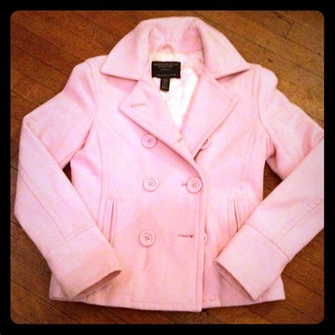 light pink pea coat 74 eagle outfitters outerwear light pink