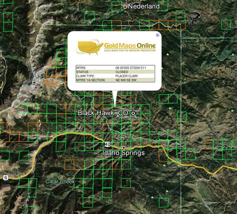 map of colorado gold colorado gold maps gold claims