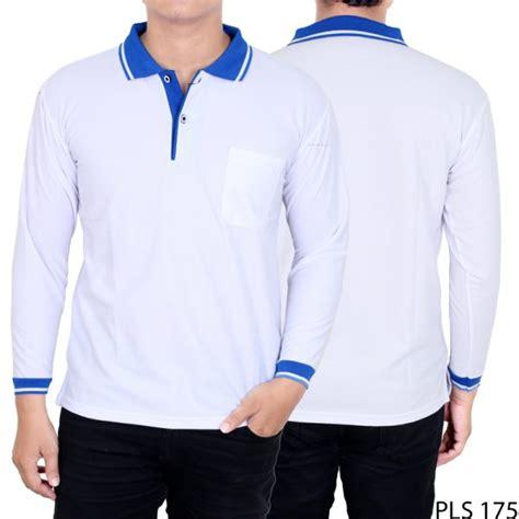 Pls 174 Kaos Polo Polos Lengan Panjang Lacost Pe Hitam Kerah Merah kaos polo kerah lengan panjang lacost pe putih kerah biru pls 175 gudang fashion