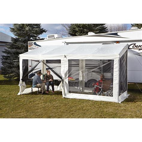 travel trailer awning screen room guide gear add a screen room 623500 screens canopies