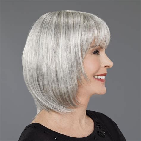 wigs for people over 50 wigs for women over 50 blending grey photo short