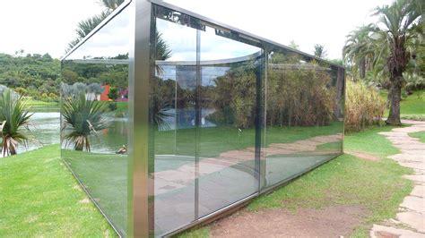 winterfester pavillon the mind bending glass pavilions of dan graham