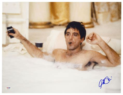 scarface bathtub scene 1983 scarface film 1980s the red list
