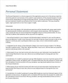 Study Abroad Resume Bullet Points Sle Personal Statement 8 Exles In Pdf