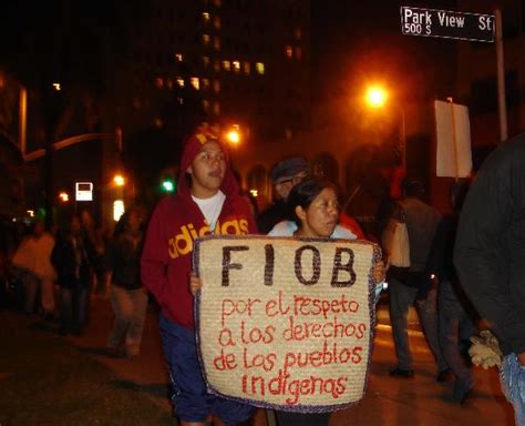 fiob jpg 11 01 demonstration of oaxacans and supporters at mexican