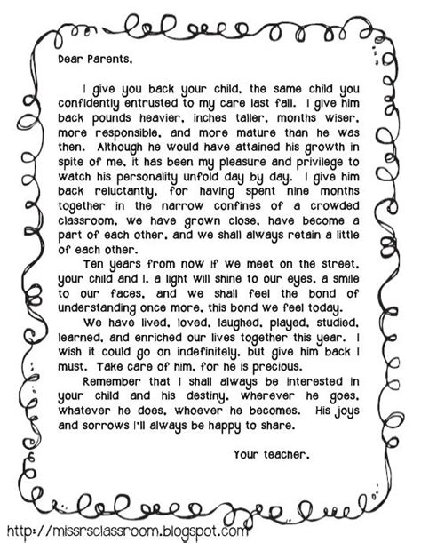Parent Letter Graduation 76 best end of year images on day care grad