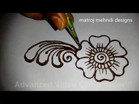 tutorial henna designs very easy easy simple beautiful mehndi designs for