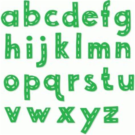 Dash Letters stitched dash lowercase alphabet letters
