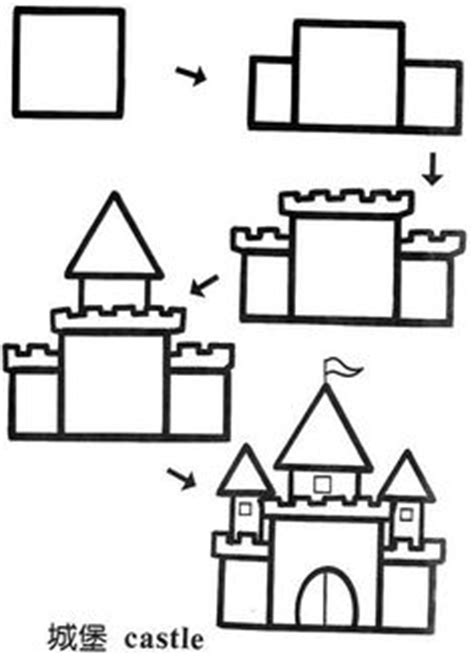 castle drawing template basic castle cinderellas castle
