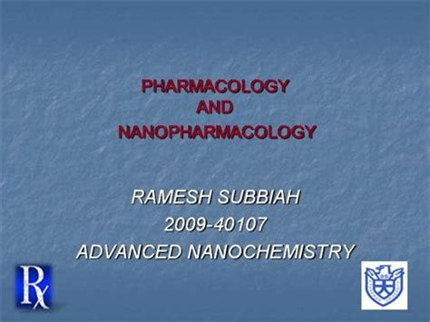 Pharmacology Nanopharmacology Authorstream Pharmacology Powerpoint Presentation