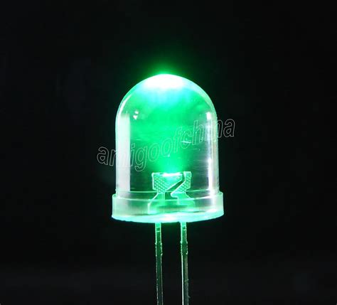 10mm led resistor 10x 10mm green 5000 mcd led bulb light free resistors