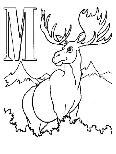 coloring book pages moose free printable moose coloring pages for