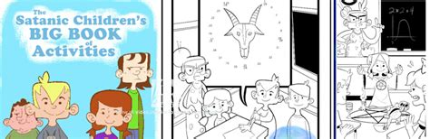 satanic coloring book the satanic children s big book of activities coloring