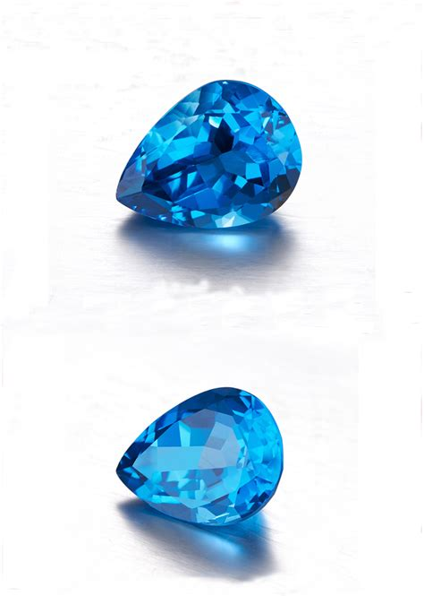 Blue Topaz Sky Cutting by High Quality Pear Shape Cut Sky Blue Topaz