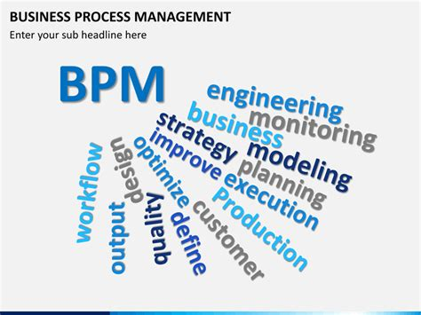 templates for business process management business process management powerpoint template sketchbubble
