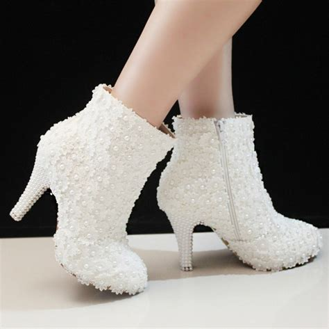 winter white high heel boots 2016 nicest winter fashion white lace prom