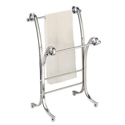 Bathroom Floor Rack Towel Rack Stand Chrome Bathroom Holder Fingertip Floor