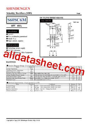 Transistor D5s6m s60sc6m データシート pdf shindengen electric mfg co ltd