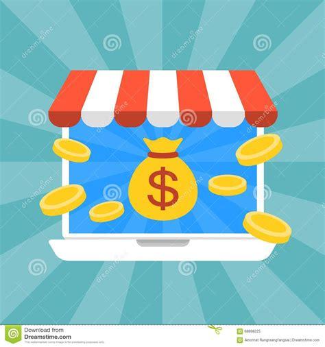 Making Money Working Online - working and making money online stock illustration image 68898225