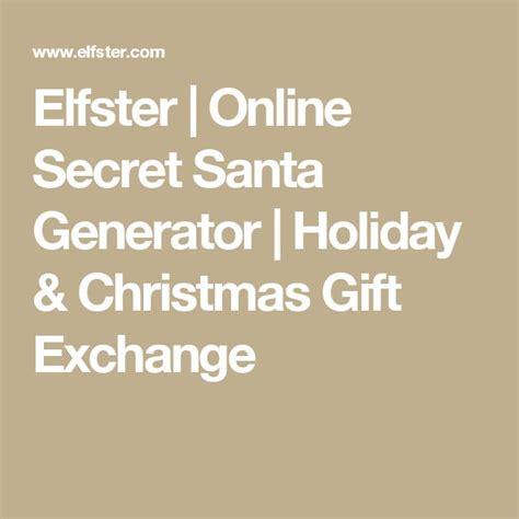1000 ideas about secret santa generator on pinterest