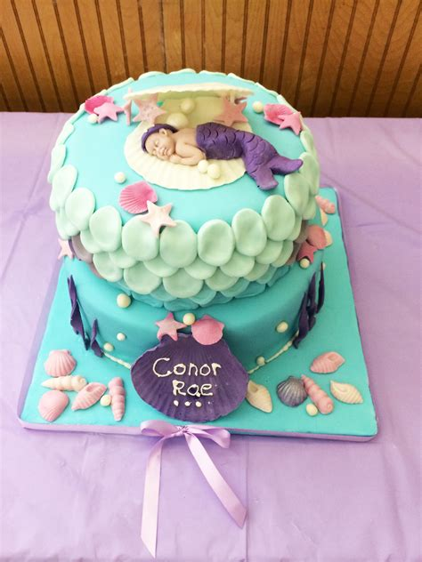 Mermaid Baby Shower Cake by Cakes By Colby Pittsburgh Pa Celebration Cakes Cakes