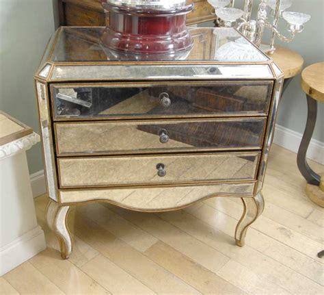 Mirror Chester Drawers Furniture by Mirrored Deco Chest Drawers Commode Mirror Furniture