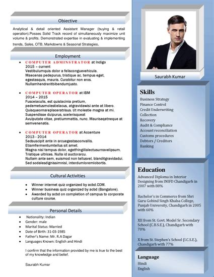 Free Resume Formats by Free Resume Formats Sle Resume Format Resume
