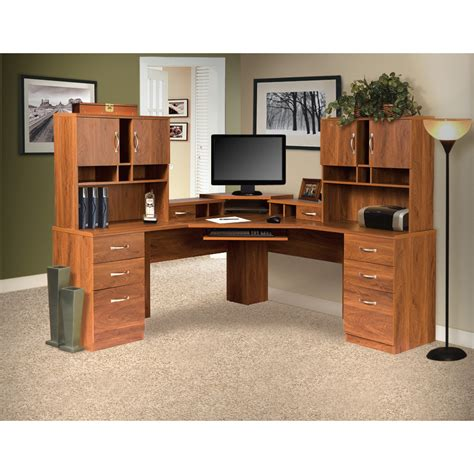 Corner Desk Home Office Furniture Os Home Office Furniture Office Adaptations Corner Computer Desk With Monitor Platform