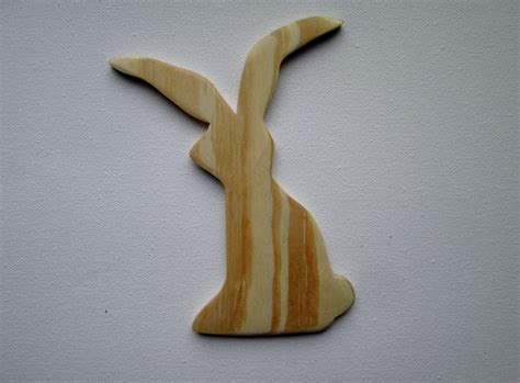 rabbit cuts woodworking diy made wooden bunny rabbit wood cut out plain wood