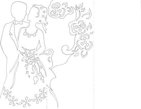 3d wedding cards templates free tutoriel pour un menu kirigami hochzeit karte vorlagen