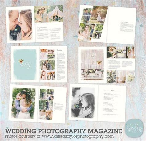 24 Page Wedding Photography Magazine Template Pg010 Paper Lark Designs Wedding Photography Magazine Template