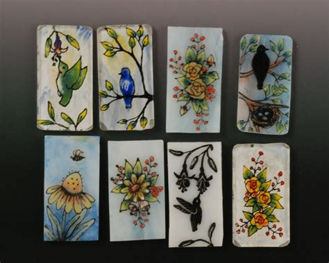 painting on ceramic tile craft vickie hallmark jewelry design