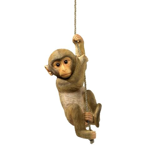 design toscano chico  chimpanzee hanging baby monkey