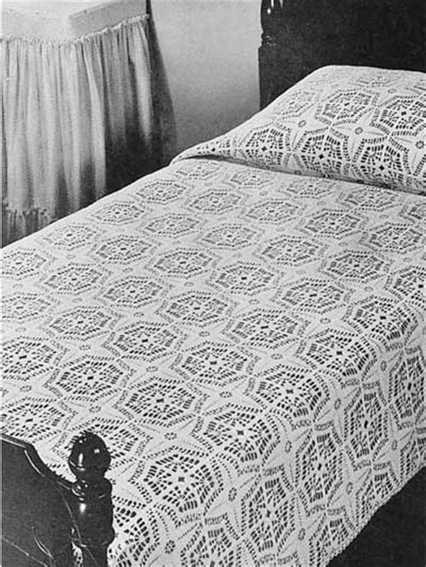 crochet coverlet pattern crochet general decor compass bedspread free