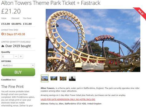 newspaper theme park vouchers alton towers voucher codes discount codes deals money